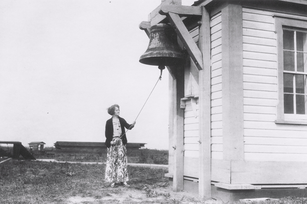Mable Bartow at Fog Bell